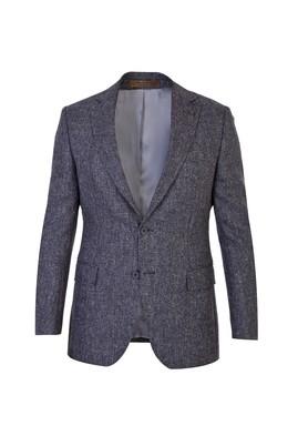 Erkek Giyim - Orta füme 46 Beden İtalyan Klasik Yün Kuşgözü Ceket