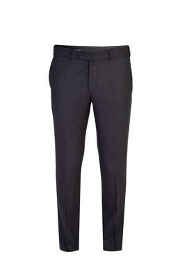 Erkek Giyim - Antrasit 54 Beden İtalyan Yünlü Flanel Pantolon