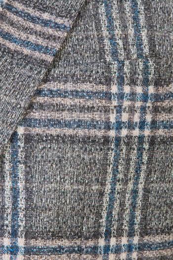 Erkek Giyim - İtalyan Klasik Yünlü Ekose Ceket