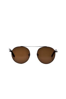 Erkek Giyim - Kahve STD Beden Metal Çerçeveli Güneş Gözlüğü