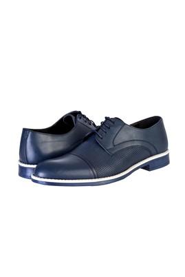 Erkek Giyim - Lacivert 40 Beden Bağcıklı Klasik Ayakkabı