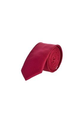 Erkek Giyim - Kırmızı 65 Beden İnce Desenli Kravat