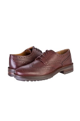 Erkek Giyim - Kahve 40 Beden Bağcıklı Klasik Ayakkabı