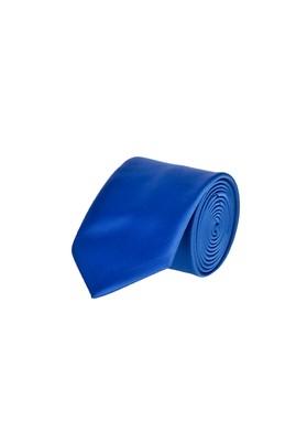 Erkek Giyim - Mavi 70 Beden Düz Saten Kravat
