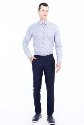 Erkek Giyim - LACİVERT 46 Beden Slim Fit Klasik Pantolon
