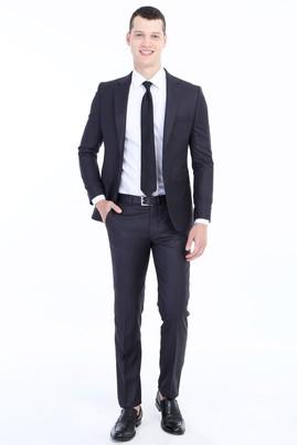 Erkek Giyim - ANTRASİT 46 Beden Slim Fit Takım Elbise
