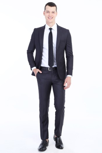 Erkek Antrasit Slim Fit Takim Elbise 0k1d7et16qf46 Kigili