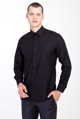 Erkek Giyim - SİYAH XXL Beden Uzun Kol Desenli Gömlek