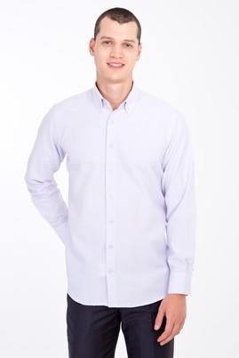 Erkek Giyim - LİLA XXL Beden Uzun Kol Desenli Gömlek