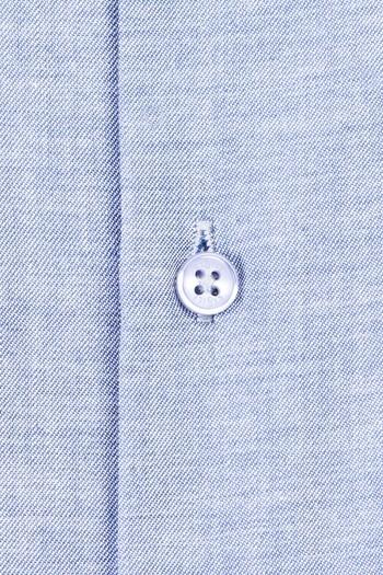 Erkek Giyim - Uzun Kol Düğmeli Yaka Slim Fit Desenli Gömlek