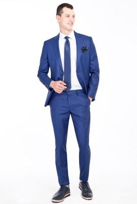 Erkek Giyim - Mavi 44 Beden Süper Slim Fit Takım Elbise