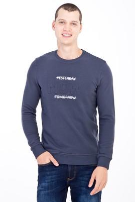Erkek Giyim - Lacivert XL Beden Bisiklet Yaka Slim Fit Sweatshirt