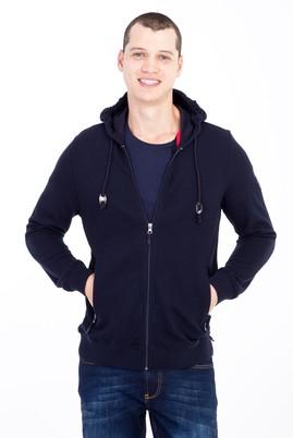 Erkek Giyim - Lacivert L Beden Kapüşonlu Sweatshirt