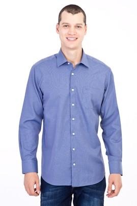 Erkek Giyim - Füme Gri XXL Beden Uzun Kol Desenli Gömlek