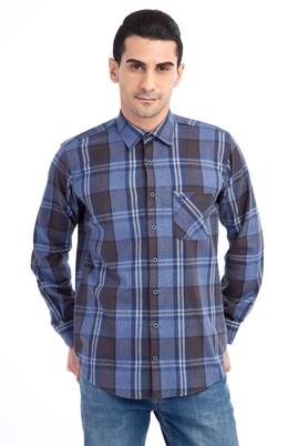 Erkek Giyim - Lacivert M Beden Uzun Kol Oduncu Gömlek