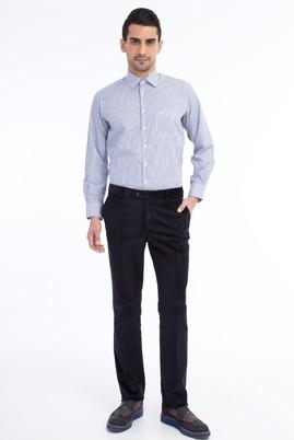 Erkek Giyim - Lacivert 50 Beden Kadife Pantolon