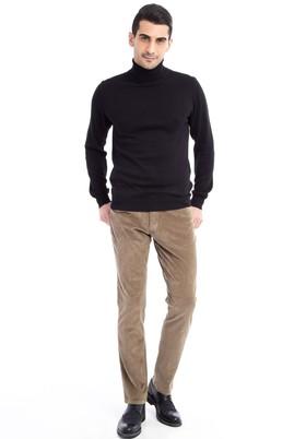 Erkek Giyim - Bej 48 Beden Kadife Pantolon