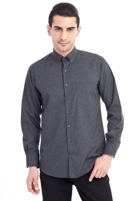 Erkek Giyim - Antrasit L Beden Uzun Kol Oduncu Gömlek