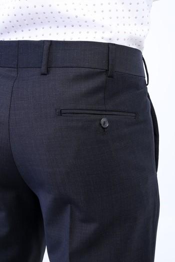 Erkek Giyim - Yünlü Ekose Klasik Pantolon