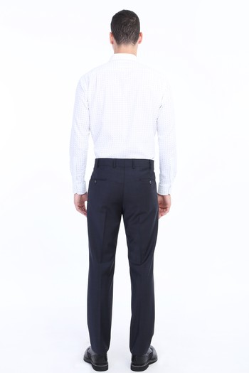 Erkek Giyim - Yünlü Klasik Ekose Pantolon