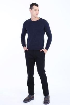 Erkek Giyim - LACİVERT 50 Beden Slim Fit Kuşgözü Spor Pantolon