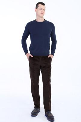 Erkek Giyim - KOYU KAHVE 52 Beden Kadife Pantolon