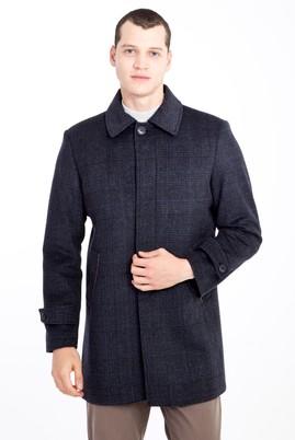 Erkek Giyim - ANTRASİT XXL Beden Yünlü Kaban