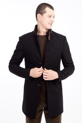 Erkek Giyim - SİYAH 3X Beden Yünlü Kaban