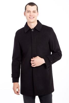 Erkek Giyim - SİYAH S Beden Yünlü Kaban