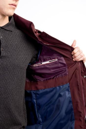 Erkek Giyim - Kapüşonlu Bonded Kaban