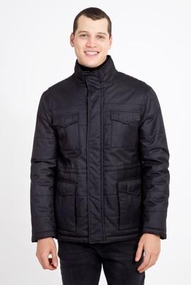 Erkek Giyim - SİYAH XL Beden Bonded Kaban