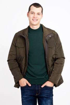 Erkek Giyim - KOYU YESİL 3X Beden Bonded Kaban