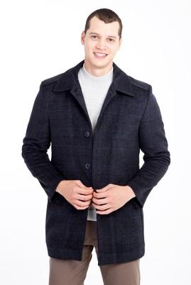Erkek Giyim - ORTA FÜME 48 Beden Yünlü Kaban