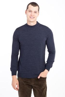 Erkek Giyim - Mavi M Beden Bato Yaka Regular Fit Triko Kazak