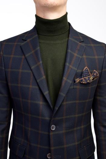 Erkek Giyim - Slim Fit Ekose Ceket