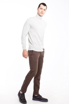 Erkek Giyim - TOPRAK 46 Beden Slim Fit Saten Spor Pantolon