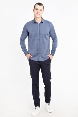 Erkek Giyim - LACİVERT 46 Beden Slim Fit Spor Pantolon