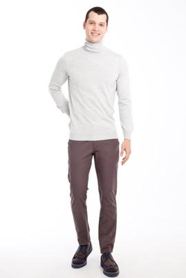 Erkek Giyim - FÜME GRİ 46 Beden Slim Fit Spor Pantolon