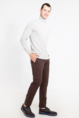 Erkek Giyim - KAHVE 48 Beden Slim Fit Spor Pantolon