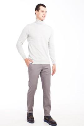Erkek Giyim - ORTA FÜME 46 Beden Slim Fit Spor Pantolon