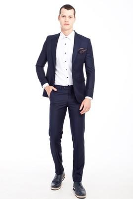 Erkek Giyim - LACİVERT 56 Beden Slim Fit Takım Elbise