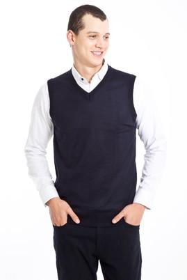 Erkek Giyim - LACİVERT M Beden V Yaka Süveter