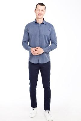 Erkek Giyim - LACİVERT 56 Beden Slim Fit Desenli Spor Pantolon
