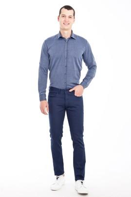 Erkek Giyim - MAVİ 48 Beden Slim Fit Desenli Spor Pantolon