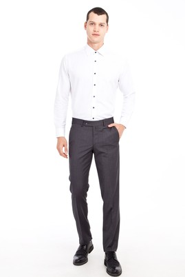 Erkek Giyim - ANTRASİT 54 Beden Klasik Desenli Pantolon
