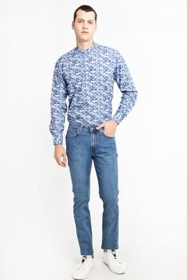 Erkek Giyim - GÖK MAVİSİ 46 Beden Slim Fit Denim Pantolon