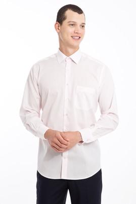 Erkek Giyim - PEMBE XXL Beden Uzun Kol Klasik Gömlek