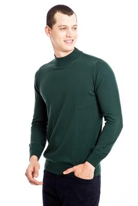 Erkek Giyim - Açık Yeşil L Beden Bato Yaka Regular Fit Triko Kazak