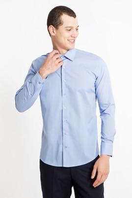 Erkek Giyim - MAVİ XS Beden Uzun Kol Slim Fit Gömlek
