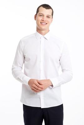 Erkek Giyim - BEYAZ XXL Beden Uzun Kol Slim Fit Gömlek